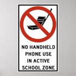 Uso del teléfono del PDA prohibido Posters