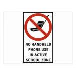 Uso del teléfono del PDA prohibido Tarjeta Postal