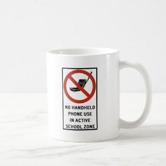 Uso del teléfono del PDA prohibido Tazas De Café