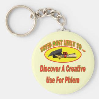 Uso para Phlem Llavero Redondo Tipo Pin