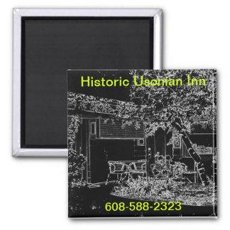 Usonian Inn magnet - neon effect