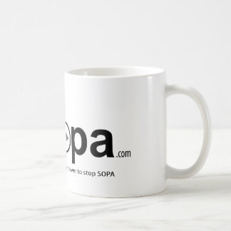 USOPA, you have the superpowers to stop SOPA Classic White Coffee Mug