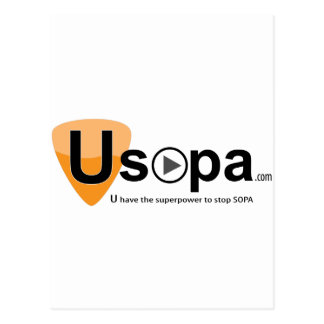 USOPA, you have the superpowers to stop SOPA Postcard