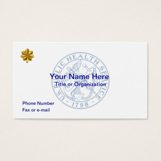 USPHS Lieutenant Commander Business Card