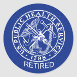 USPHS Retired Logo Classic Round Sticker