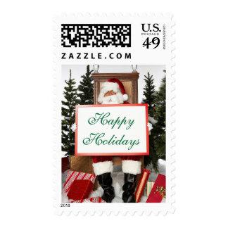USPS Christmas Greeting Cards Stamp 2014 Santa