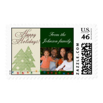 USPS Happy Holiday photo stamp template