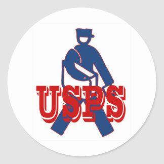 USPS Letter Carrier Round Stickers