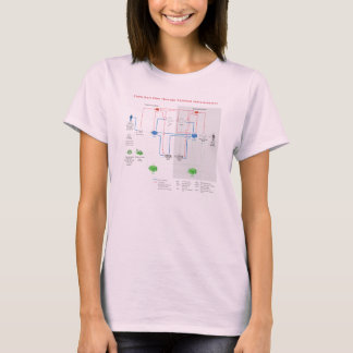 USPS mail flow through national infrastructure T-Shirt