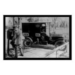 USPS Mailman and Truck 1919 Print