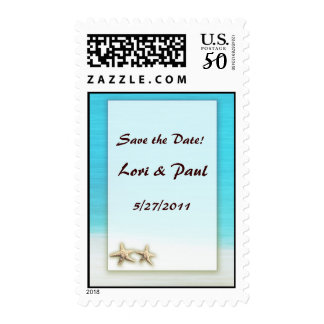 USPS Stamps - Save the Date beach wedding