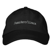 /usr/src/linux embroidered baseball hat