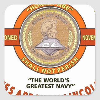 USS ABRAHAM LINCOLN CVN-72 U.S.NAVY CARRIER SQUARE STICKER