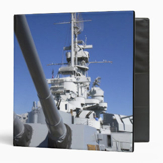 USS Alabama Battleship at Battleship Memorial 3 Ring Binder