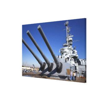USS Alabama Battleship at Battleship Memorial Canvas Print