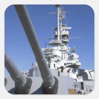 USS Alabama Battleship at Battleship Memorial Square Sticker