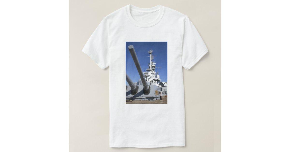 Uss alabama battleship at battleship memorial t shirt zazzle for T shirt printing mobile al