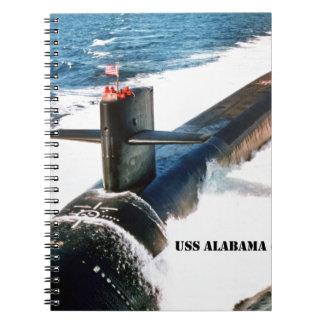 USS ALABAMA SPIRAL NOTEBOOK