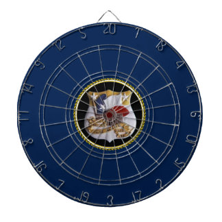 USS ALAMO (LSD-33) DARTBOARD WITH DARTS