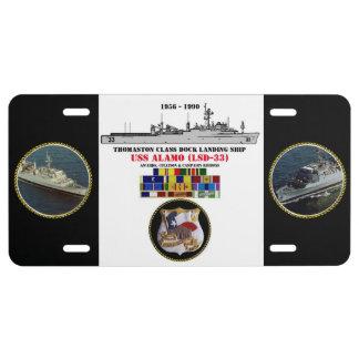 USS ÁLAMO (LSD-33) PLACA DE MATRÍCULA