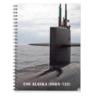 USS ALASKA SPIRAL NOTEBOOK