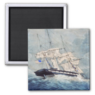 USS Albany Painting Magnet