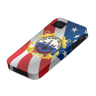 USS Albany SSN-753 iPhone 4 Cases