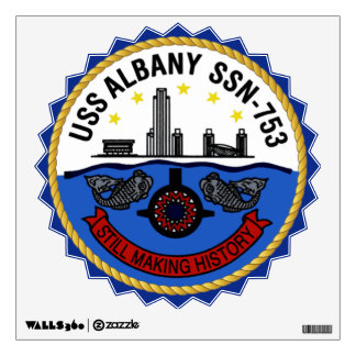 USS Albany SSN-753 Wall Decal