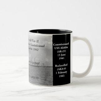 USS Alchiba (AK-23)/(AKA-6) Tazas De Café