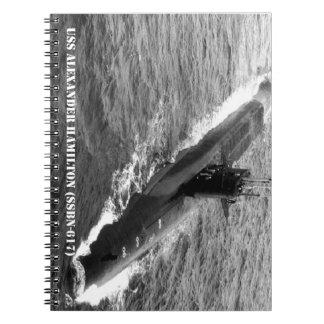 USS ALEXANDER HAMILTON SPIRAL NOTEBOOK