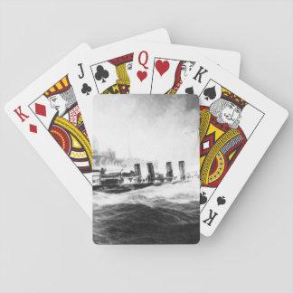 USS Allen convoying USS Leviathan_War Image Card Decks