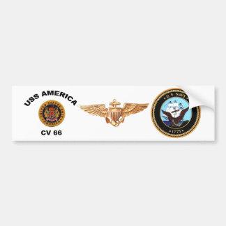 USS America CV-66 Bumper Sticker