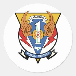 USS América CVW-1 Pegatina Redonda
