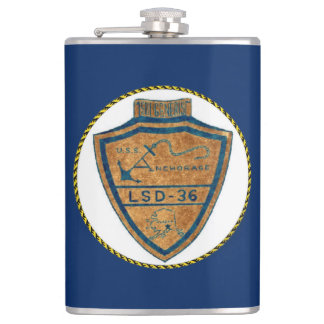 USS ANCHORAGE (LSD-36) HIP FLASK