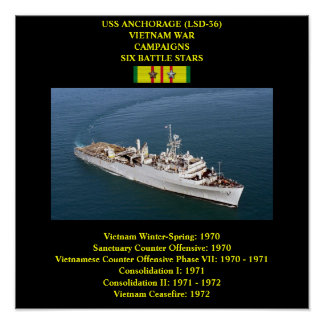 USS ANCHORAGE (LSD-36) POSTER