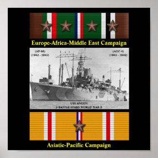 USS ANCON (AP-66) (AGC-4) POSTER
