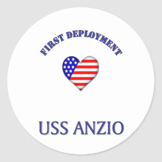 Uss Anzio Classic Round Sticker