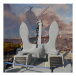 USS Arizona Anchor and ship at Pearl Harbor Poster