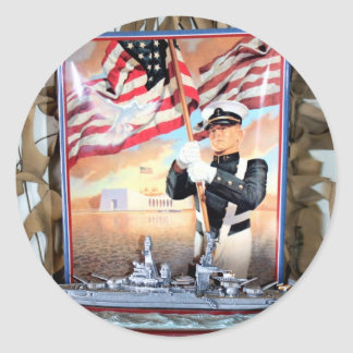 USS Arizona Tribute Classic Round Sticker