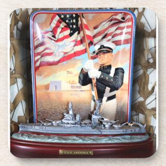 USS Arizona Tribute Drink Coaster