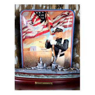 USS Arizona Tribute Postcard