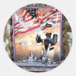 USS Arizona Tribute Round Sticker