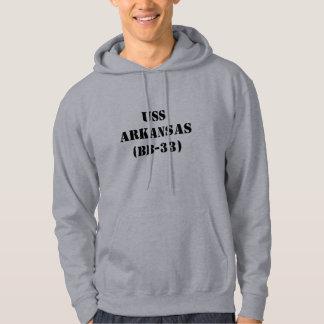 USS ARKANSAS (BB-33) HOODED SWEATSHIRT