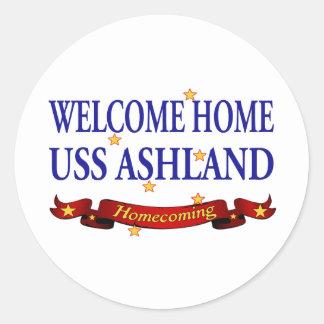 USS Ashland casero agradable Pegatina Redonda