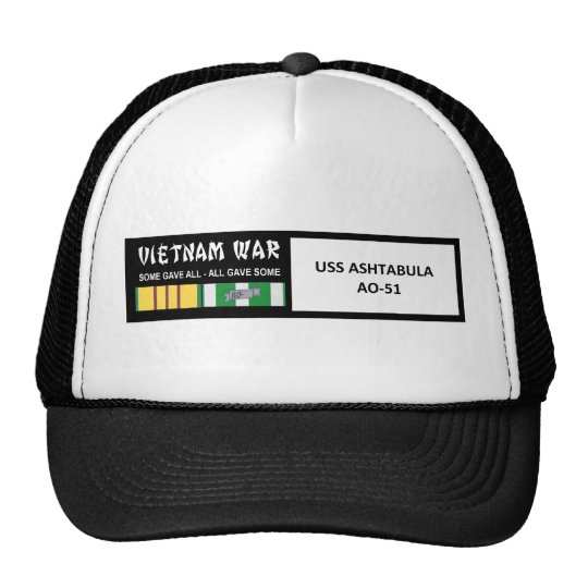 USS ASHTABULA VIETNAM WAR VETERAN TRUCKER HAT