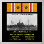 USS AUBURN (AGC-10) POSTER