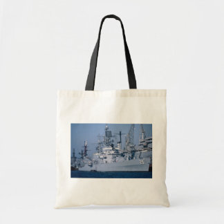 "USS Bainbridge"" nuclear powered cruiser, San Diego Budget Tote Bag"