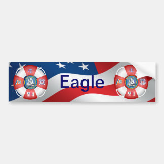 USS Barque Eagle Life-Ring Bumper Sticker