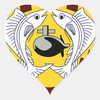 USS Billfish (SSN 676) Heart Sticker