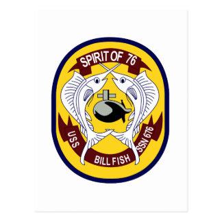 USS Billfish (SSN 676) Post Card